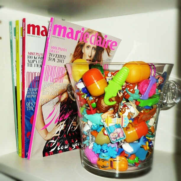 #new #decoration . #kinder #surprise #eggs + #marieclaire #magazine #Greece. #loveit by angelikispiliotopoulou, via Flickr