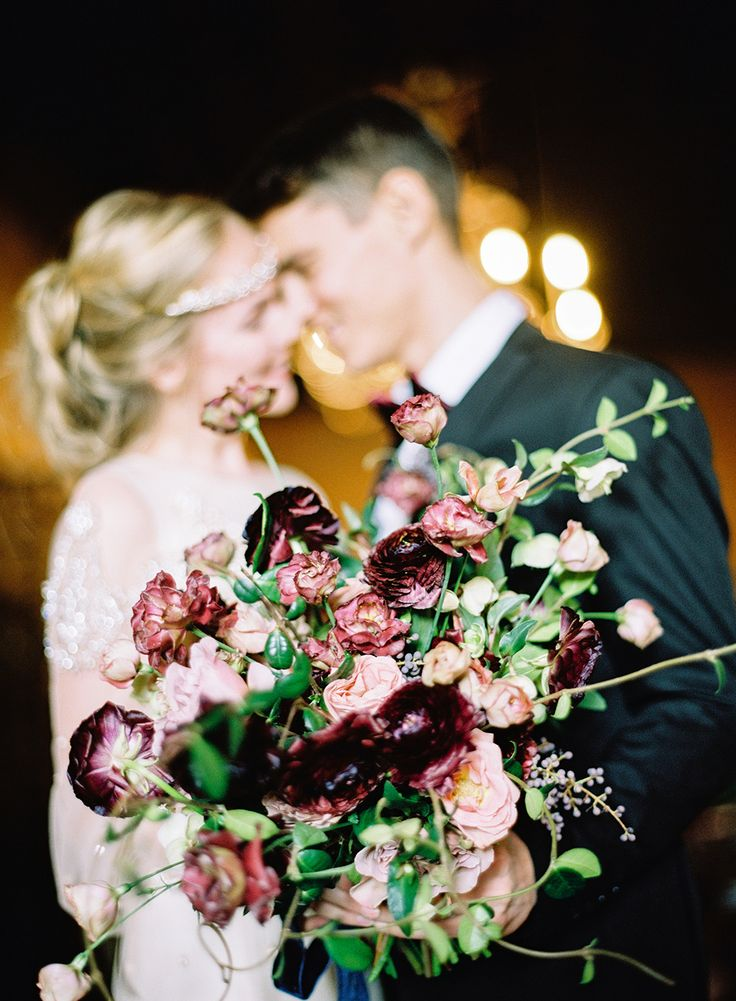 burgundy and pink wedding bouquet