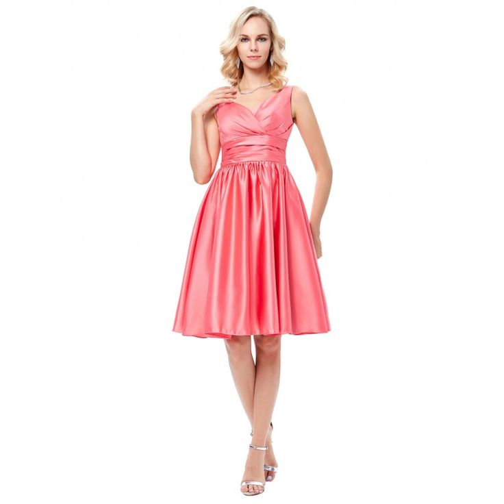 Lososové spoločenské šaty GK000126
