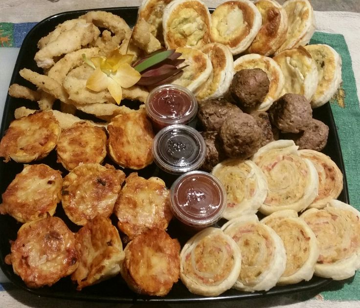 Assorted homemade fingerfood  from kaitri's catering  Www.facebook.com/ kaitriscatering