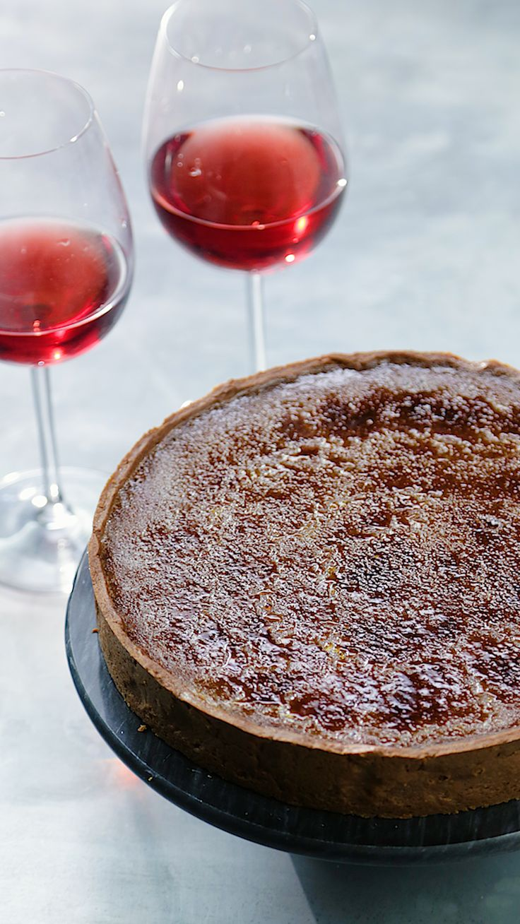 Red Wine Crème Brûlée Tart – Tania Simoes