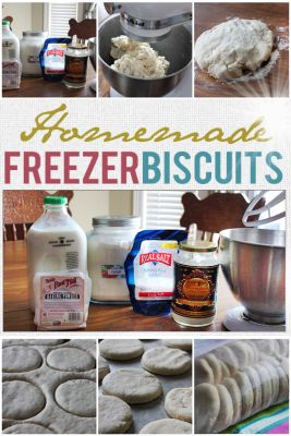 "Homemade Freezer Biscuits recipe Homesteading - The Homestead Survival .Com ""Please Share This Pin"""