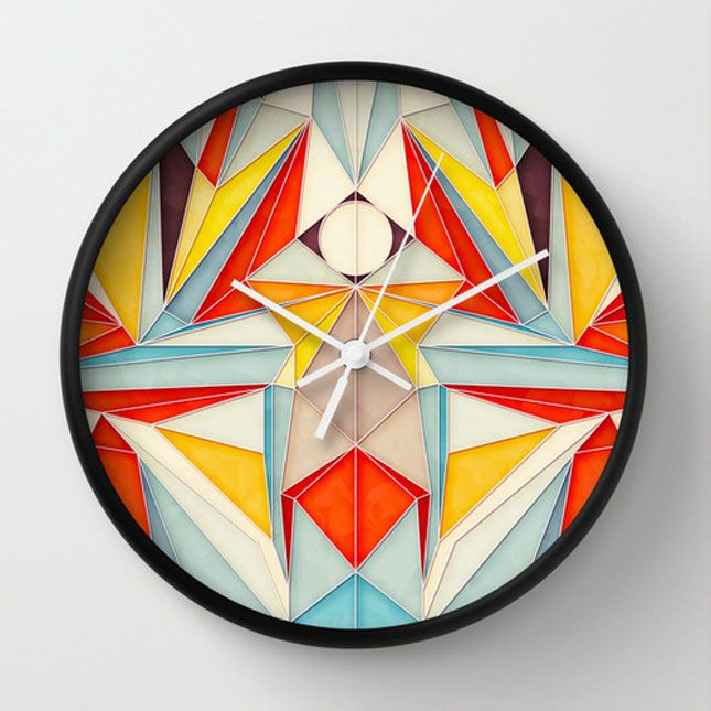 Art That Tells Time? Just Like That, Society6 Launches Wall Clocks via Brit + Co.