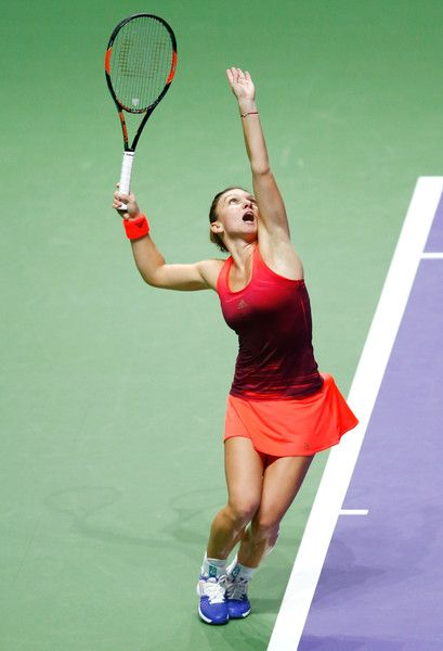 Simona Halep Photos - BNP Paribas WTA Finals: Singapore 2015 - Day One - Zimbio