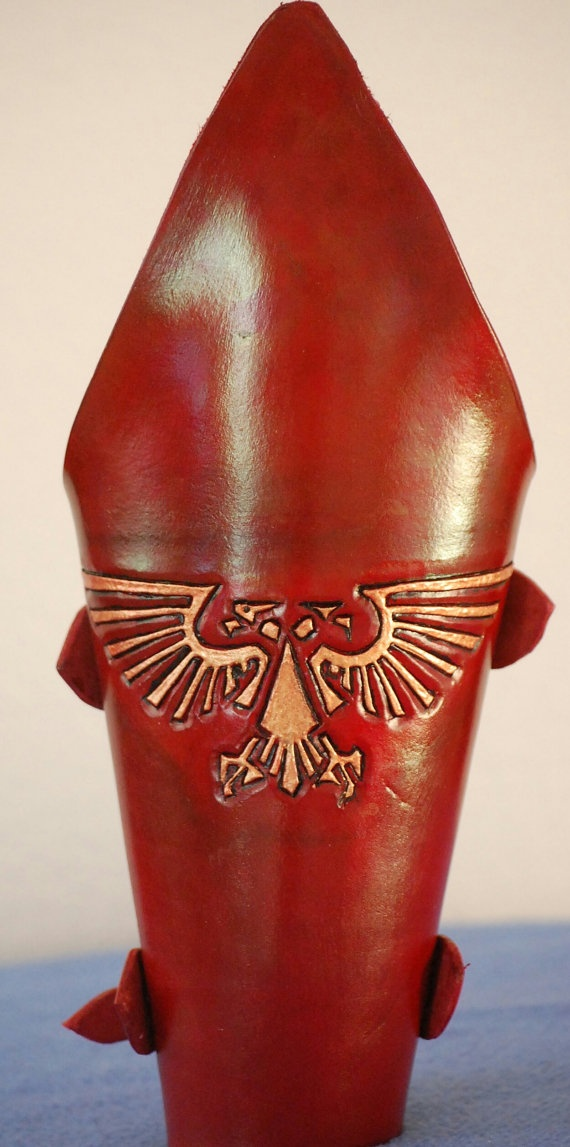 Warhammer Imperial Leather Bacers Set of by FantasyLeatherWorks, $85.00: Leather Bacers, Warhammer Imperial, Bacers Set, Leather Creations, Læder Live