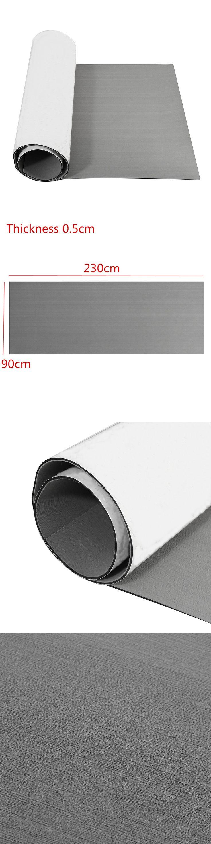 90x230x0.5cm Pure Grey Self Adhesive EVA Foam Teak Sheet Boat Yacht Synthetic Decking Foam Floor Mat