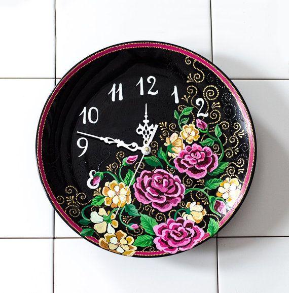Ceramic Clock / wall clock large wall clock by AravindaJewelry