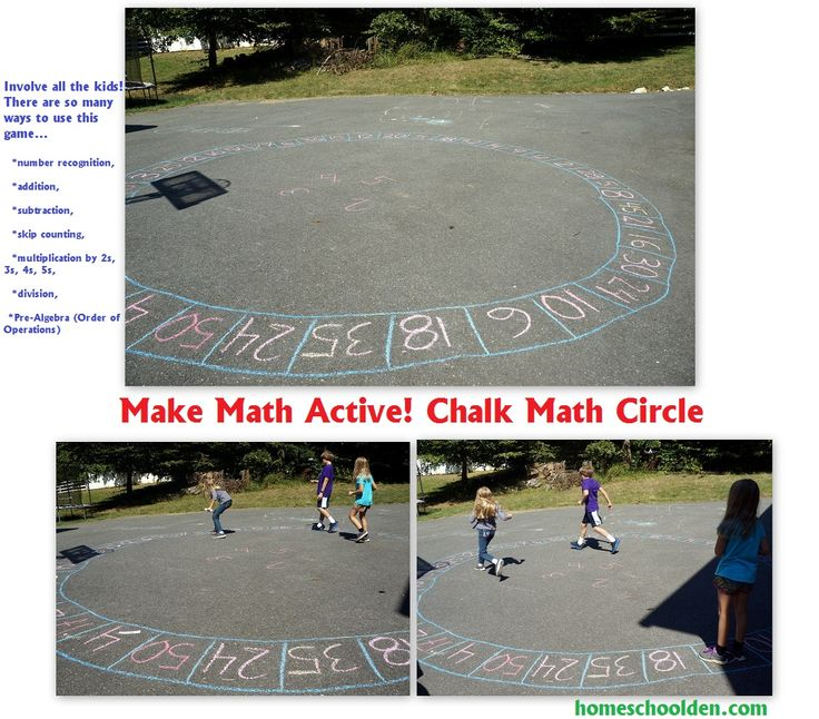 Chalk Circle Game: Outdoor Math Game (For anything from Addition thru PreAlgebra!!) - Homeschool Den