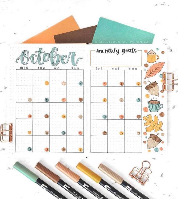 Inspiration für das Oktober-Bullet-Journal