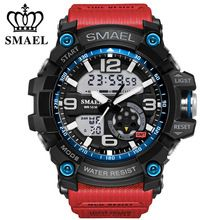 SALE US $21.8 - SMAEL Watches Men Military Army Mens Watch Led Digital Sports Wristwatch Male Analog Chronograph Watch relogio masculino Gift