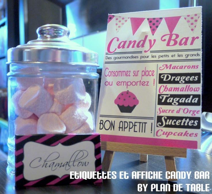 affiche mariage bar bonbons accessoires pinterest affiches id e mariage et bar. Black Bedroom Furniture Sets. Home Design Ideas