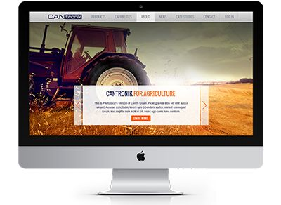 Full width, scrolling and section based, and a pinned navigation menu bar help CANtronik's website achieve an answer to the user's action query at the earliest opportunity #website #webdesign #CANtronik #electronics