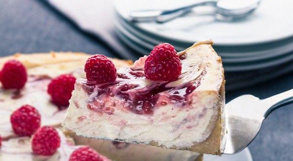 Cheesecake cu ciocolată albă și zmeură | papalapap