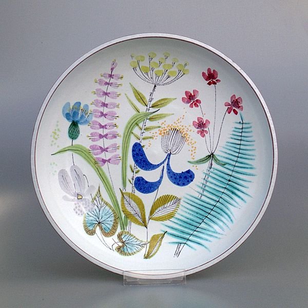 One for the plate wall from Stig Lindberg - Swedish ceramicist and textile designer