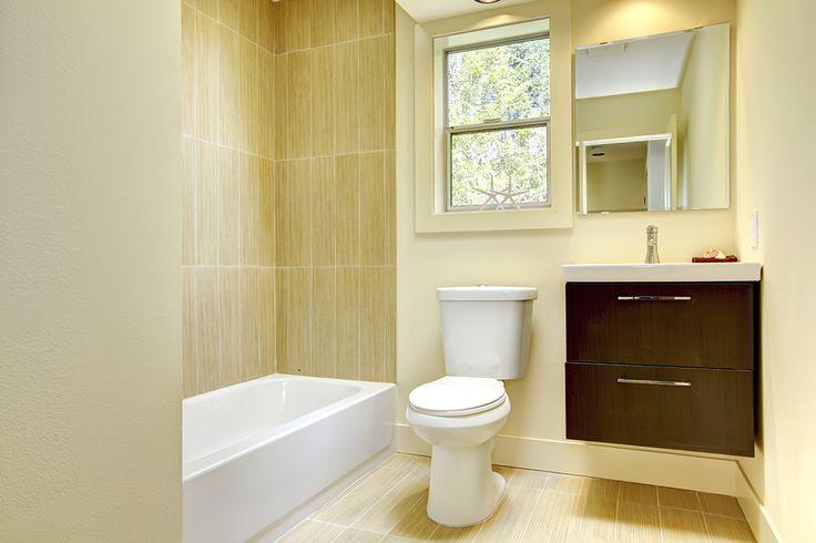"""#CILserenity Nothing says """"Wake up and smile!"""" like a yellow bathroom. With a colour like this, every morning can be cheerful, even the gloomy ones. #CILserenity -------------------------------------------------------------Quoi de mieux qu'une salle de bain jaune pour se réveiller avec le sourire? Avec une couleur semblable, vos matins seront assurément ensoleillés, peu importe la température extérieure. #CILserenity"""