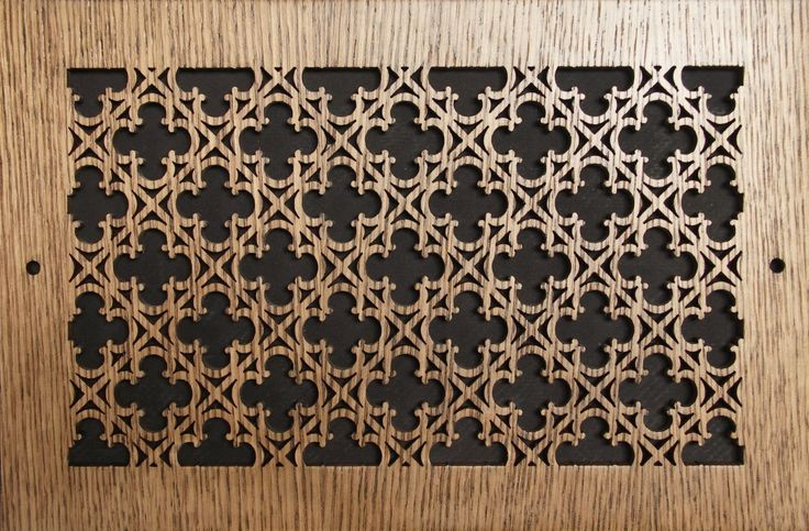 Wood Wall and Ceiling Vent Covers Pattern Y Decorative