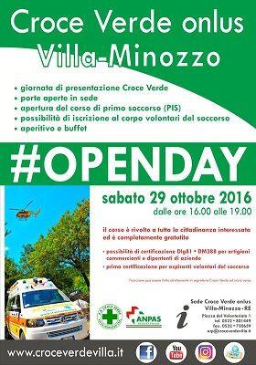 Villa Minozzo: Porte aperte in Croce verde il 25 ottobre