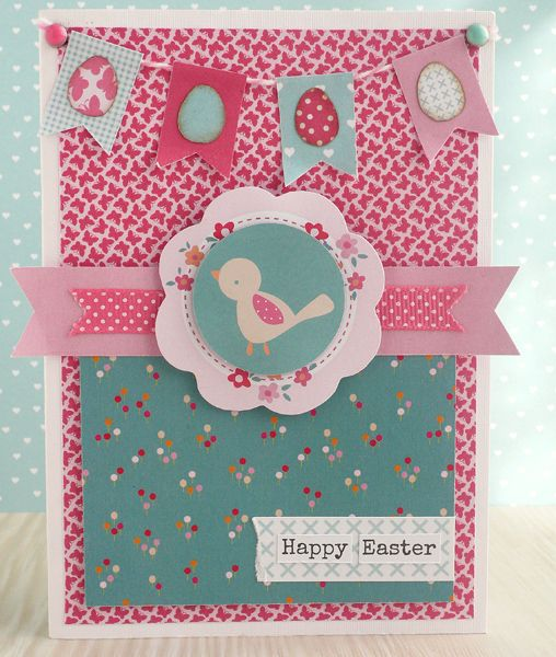 Create cute Easter cards with the Home Sweet Home collection