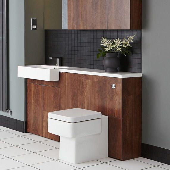 MyPlan 600 WC unit -walnut | bathstore