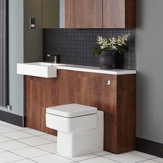 MyPlan 600 WC unit -walnut | bathstore