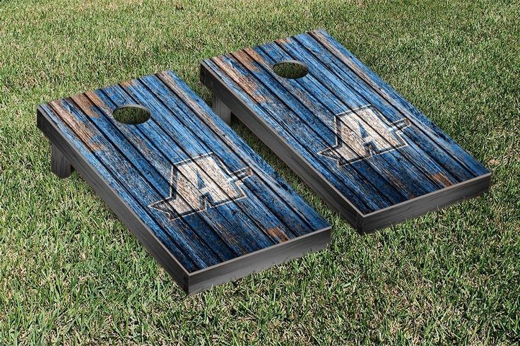 Assumption College Greyhounds Weathered Wood w/ Logo Cornhole Board & Bag Set