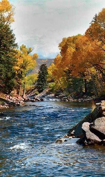 Roaring Fork River near Aspen, Colorado • Rocky Mountain Photography
