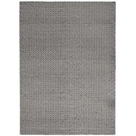 Modern vloerkleed Emporium Charcoal van 100% wol met geweven print. Verkrijgbaar in charcoal en zacht grijs en twee verschillende formaten. #vloerkledenloods #wool #carpet #emporium