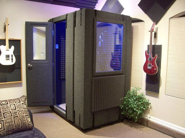 Music Room with soundproof practice / recording booth