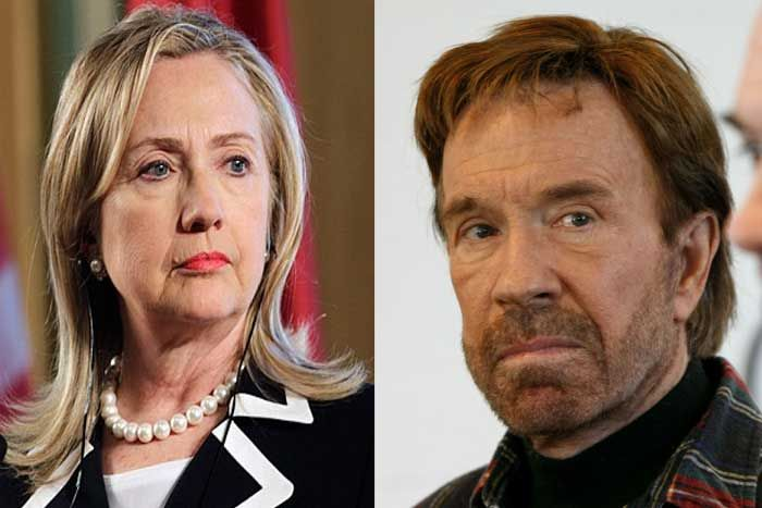 With Only 21 Words, Chuck Norris NUKES Hillary Clinton's 2016 Campaign (MUST READ)  Read more: http://www.thepoliticalinsider.com/with-only-21-words-chuck-norris-nukes-hillary-clintons-2016-campaign-must-read/#ixzz3XJJ40qL4  - The Political Insider