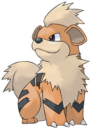 Pokédex entry for #58 Growlithe containing stats, moves ...