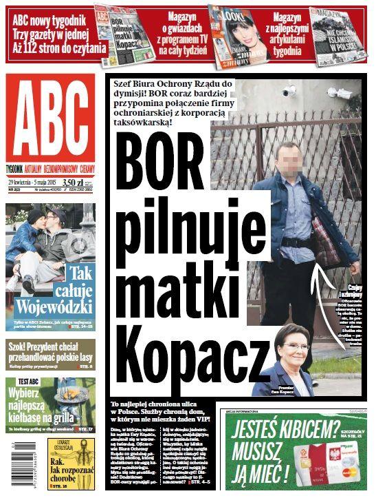 ABC nr 2 cover: BOR pilnuje matki Kopacz