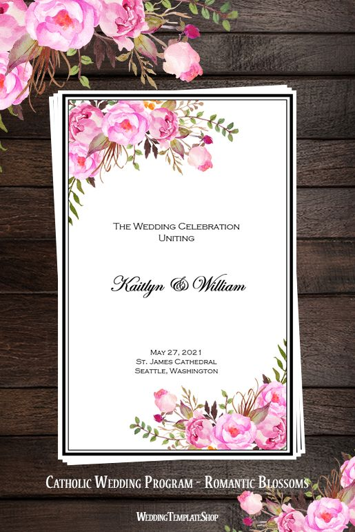 Best Wedding Ceremony Booklet Templates Ideas On Pinterest