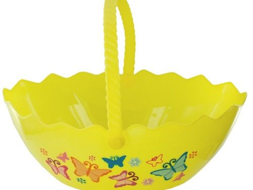 Happy Easter Party Spring Egg Shape Printed Basket (Wholesale Lot of 24)