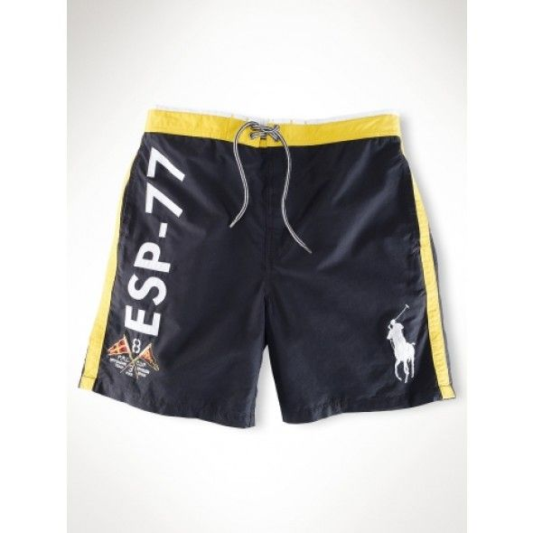 Ralph Lauren Classic ESP-77 Series Black Beach Shorts http://www.