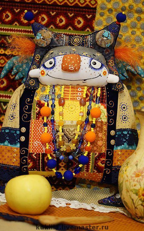 Купить Песняша - песня, весна, кукла, авторская кукла, синий, оранжевый, фольклор, русский стиль
