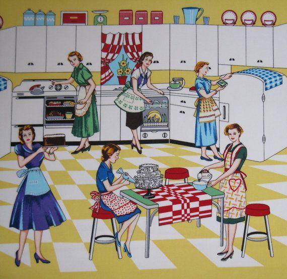 Michael Miller Retro Kitchen Fabric