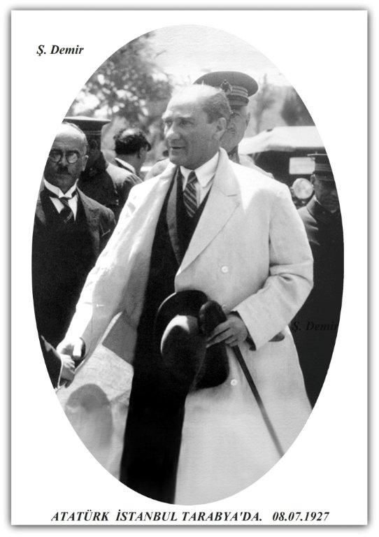 Atatürk İstanbul Tarabya'da . 08.07.1927