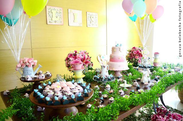 Encontrando Ideias Tema Jardim  uhuul fiestas  Pinterest