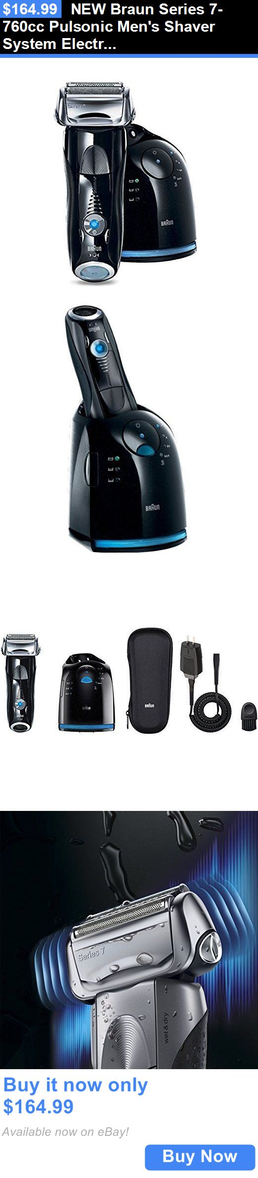Mens Shavers: New Braun Series 7-760Cc Pulsonic Mens Shaver System Electric Shaving Razor BUY IT NOW ONLY: $164.99