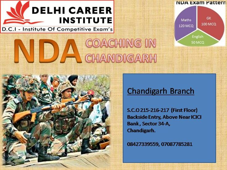 Delhi Career group is awesome institute for providing NDA coaching in Chandigarh. This academy very famous most of the aspirant's .This institute is main coaching center for NDA exam coaching in Chandigarh. This institute is the pinnacle coaching center for giving satisfactory NDA written examination training in Chandigarh.