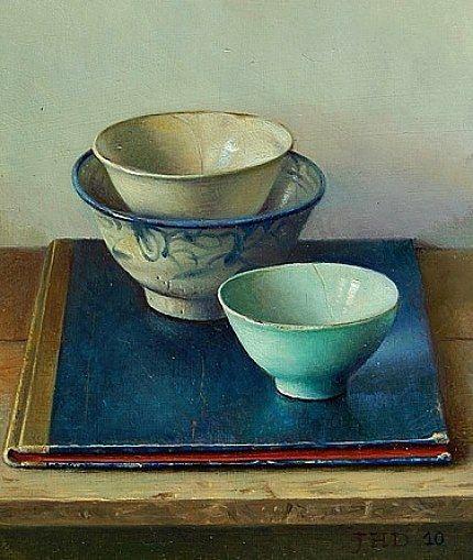 """Still life"" (2010) By Jef Diels, from Antwerp, Belgium (b. 1952) - oil on…"