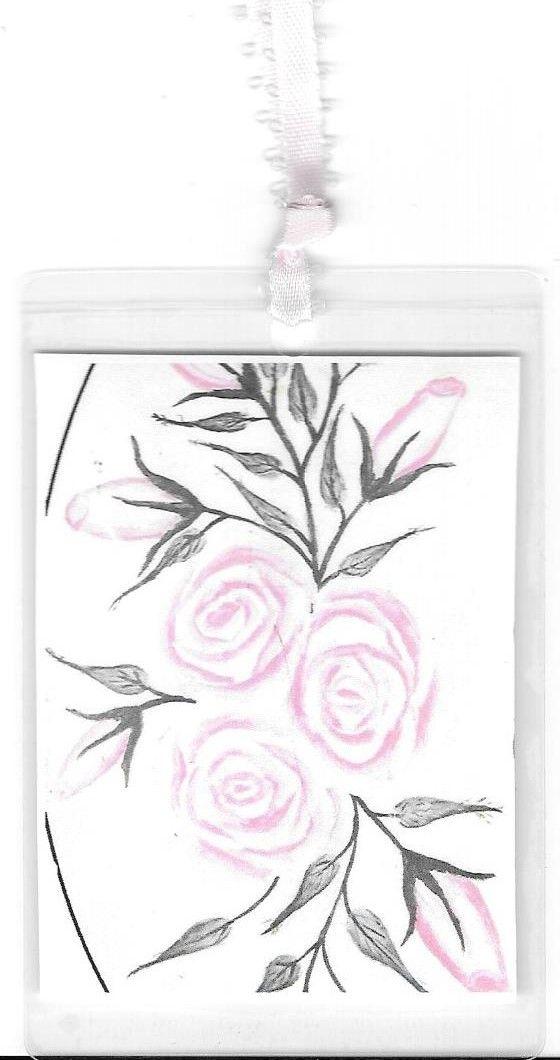 Shabby Cottage Roses Bookmark