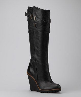 BIG...Black....Wedge Boots!! Yes!!