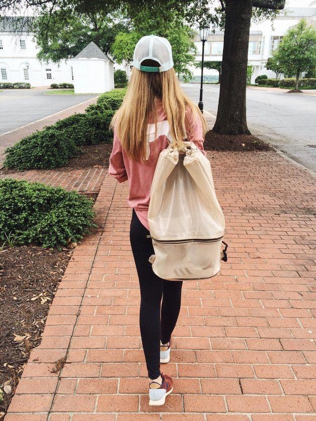 Backpacks – Gym Bag XXL Nude – a unique product by Borba_Pl on DaWanda