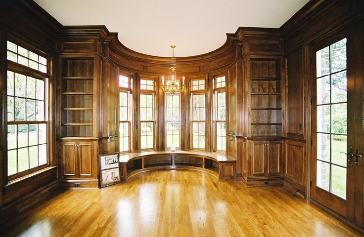 Millwork in Library / Office by Thomas Homes, Inc.