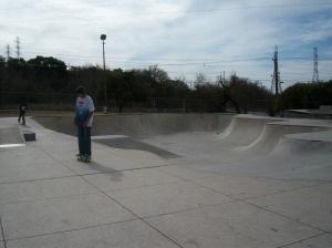 Skateboarders at Lady Bird Johnson Park