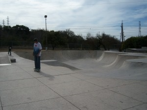 Skateboarders at Lady Bird Johnson Park