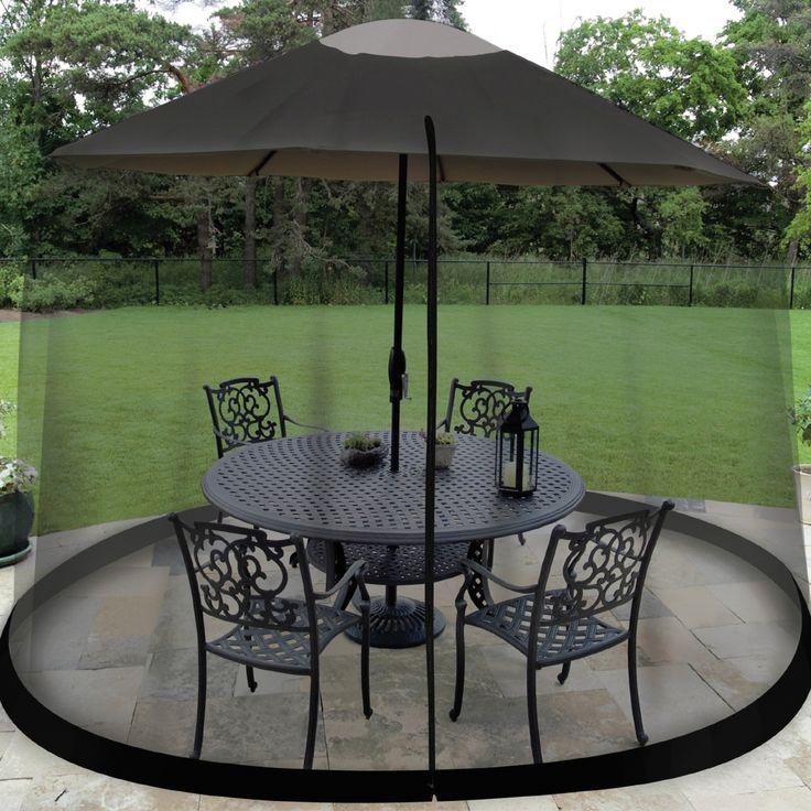Umbrella Table Enclosure Screen Patio Furniture