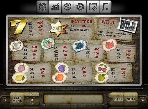 Игровой автомат Wild Fruits на реальные деньги  Игровой аппарат Wild Fruits, выпущенный компанией Endorphina, посвящён фруктовой тематике. В этом автомате вы будете играть на деньги на 5 барабанах и 50 линиях. С получением реальных выплат помогут бонусные вращения и риск-игра.