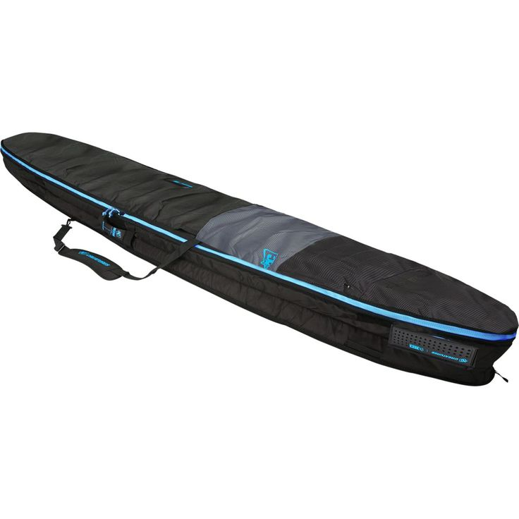Creatures of Leisure Longboard Day Use Surfboard Bag Charcoal/Cyan 9ft 6in